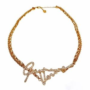 VERSACE Crystal GV Signature Necklace NWT